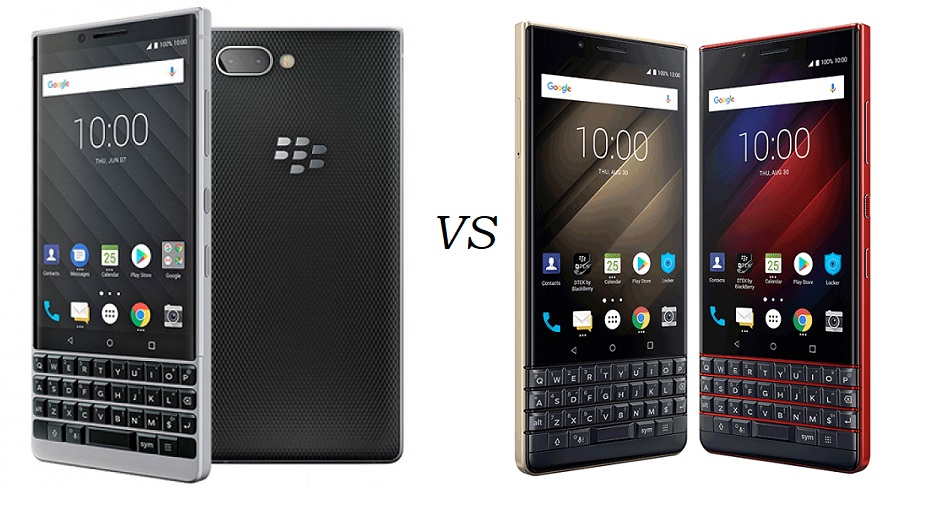 What's the difference: BlackBerry KEY2 LE vs BlackBerry KEY2