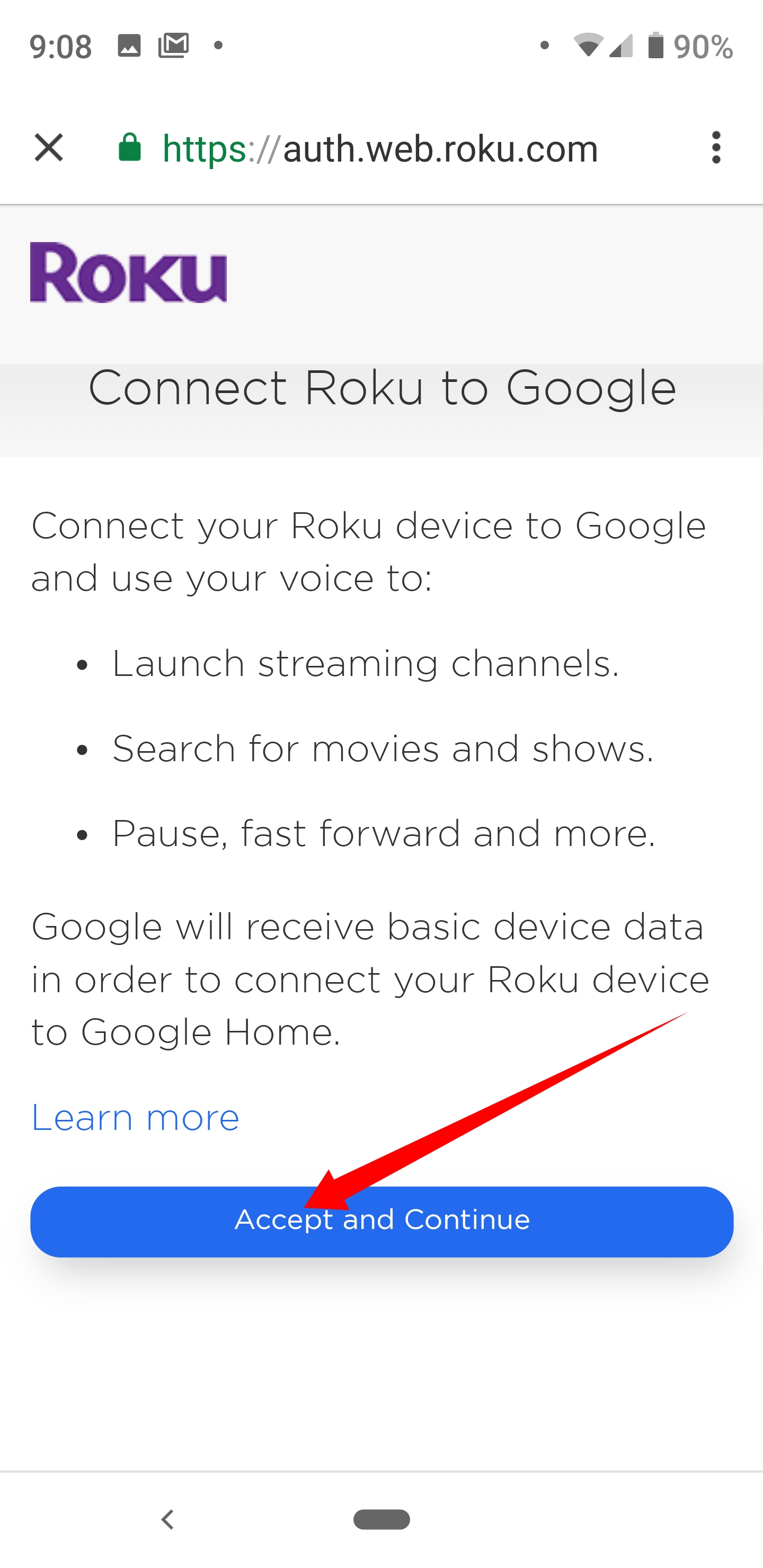 can google home connect to roku