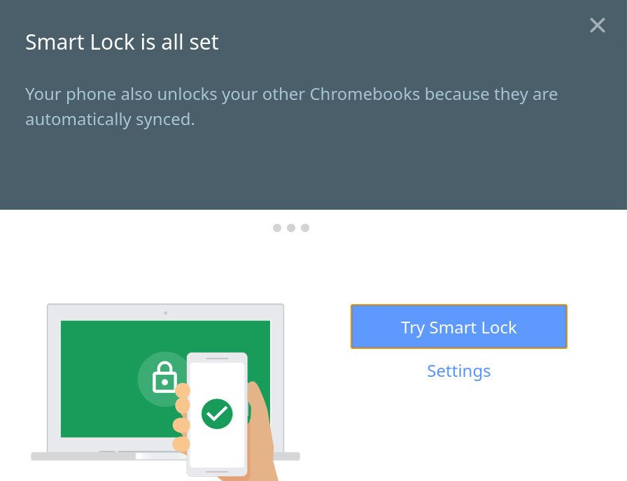 How to turn on Smart Lock on Chrome OS