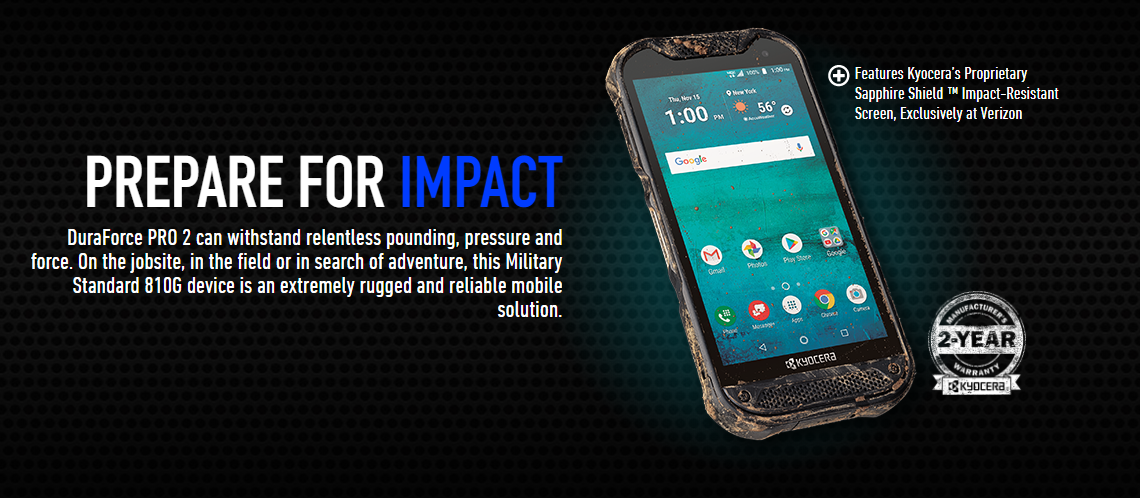 Verizon's latest is the rugged Kyocera DuraForce Pro 2