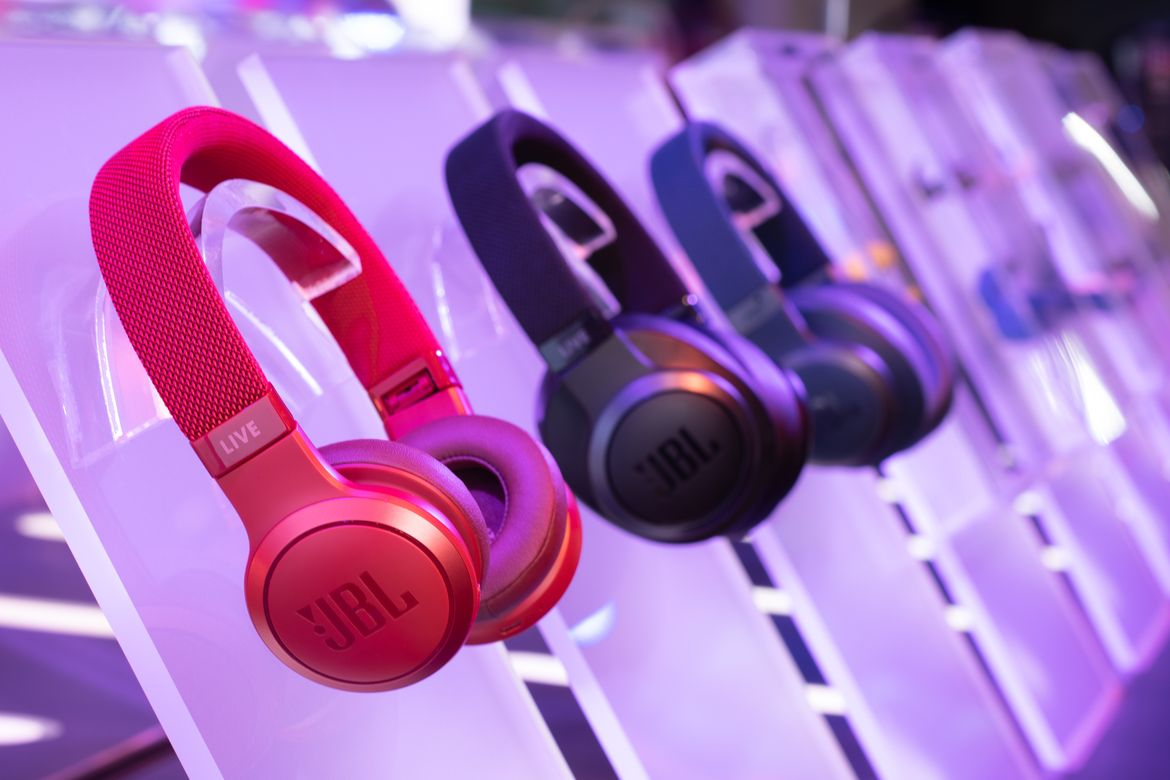 7c773b26cf0 JBL has brought plenty of headphones and Bluetooth speakers to show off at  CES 2019