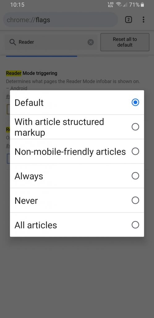 reader mode