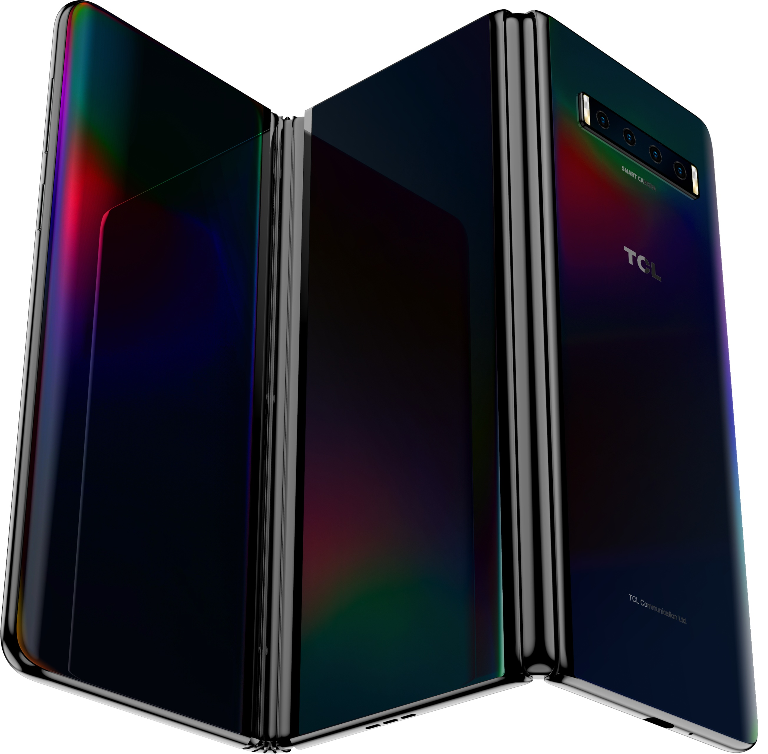 TCL showcases a rollable concept smartphone alongside a tri-fold foldable device