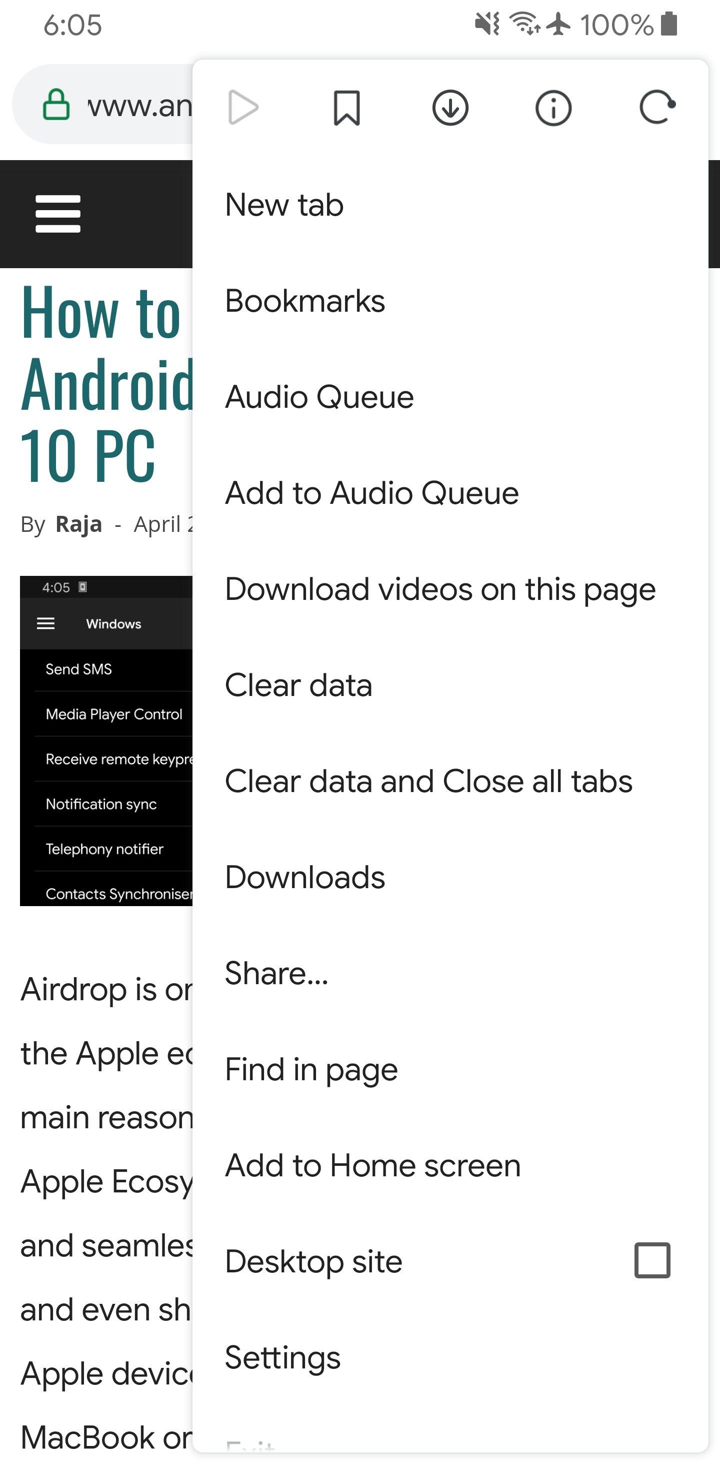 article audio format