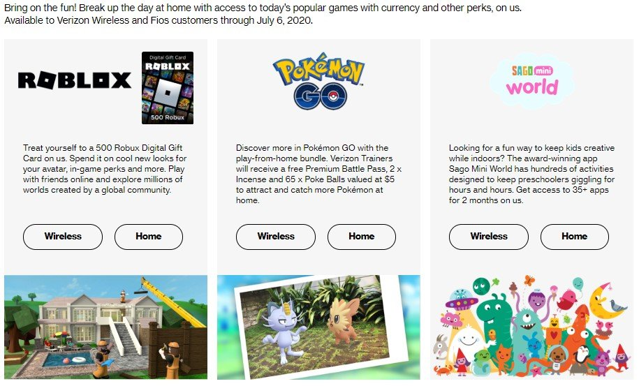 How To Get Robux With Code Poke Verizon Offers More At Home With In Game Bonuses And Free Goodies