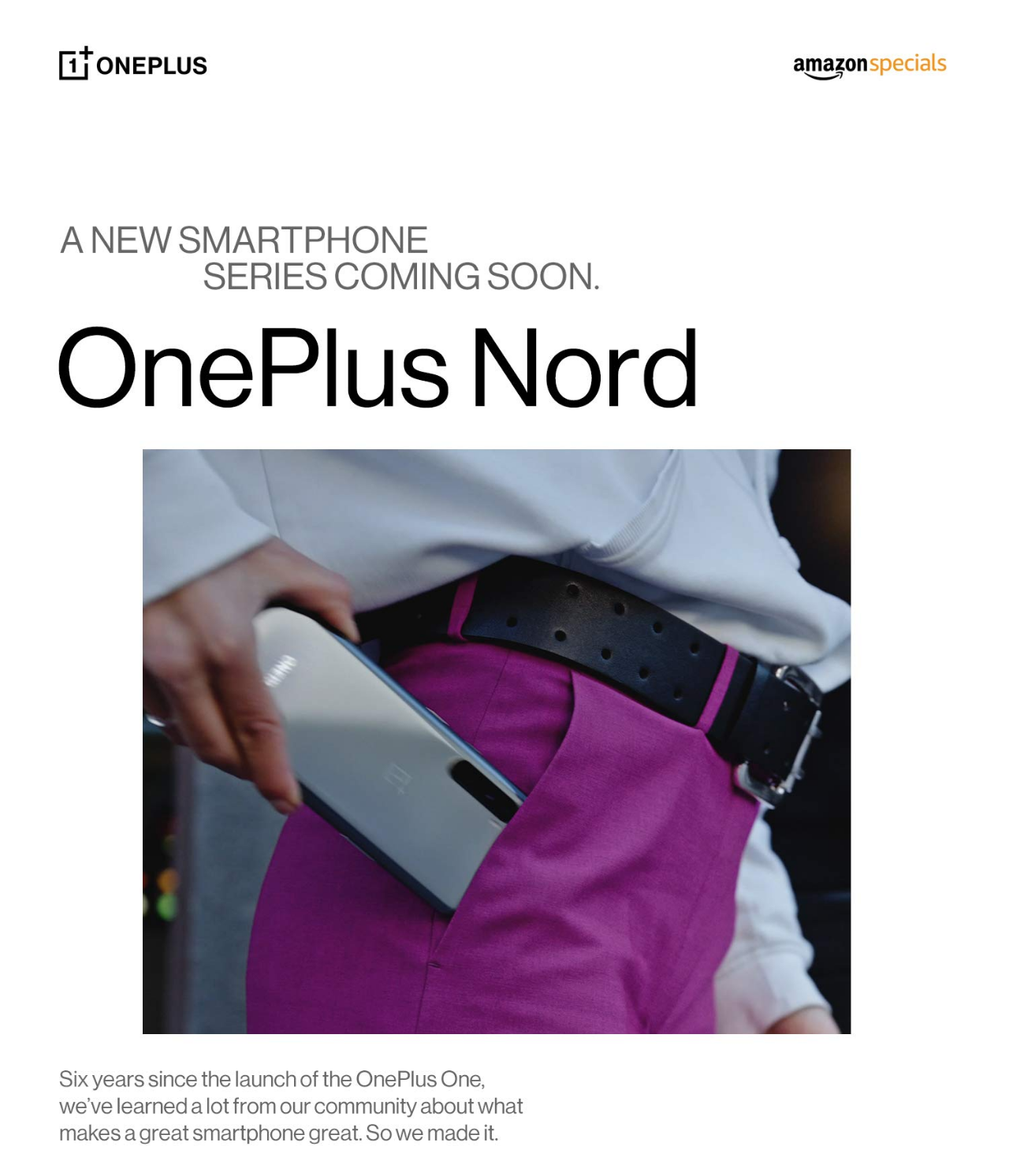 OnePl,us Nord listing on Amazon India