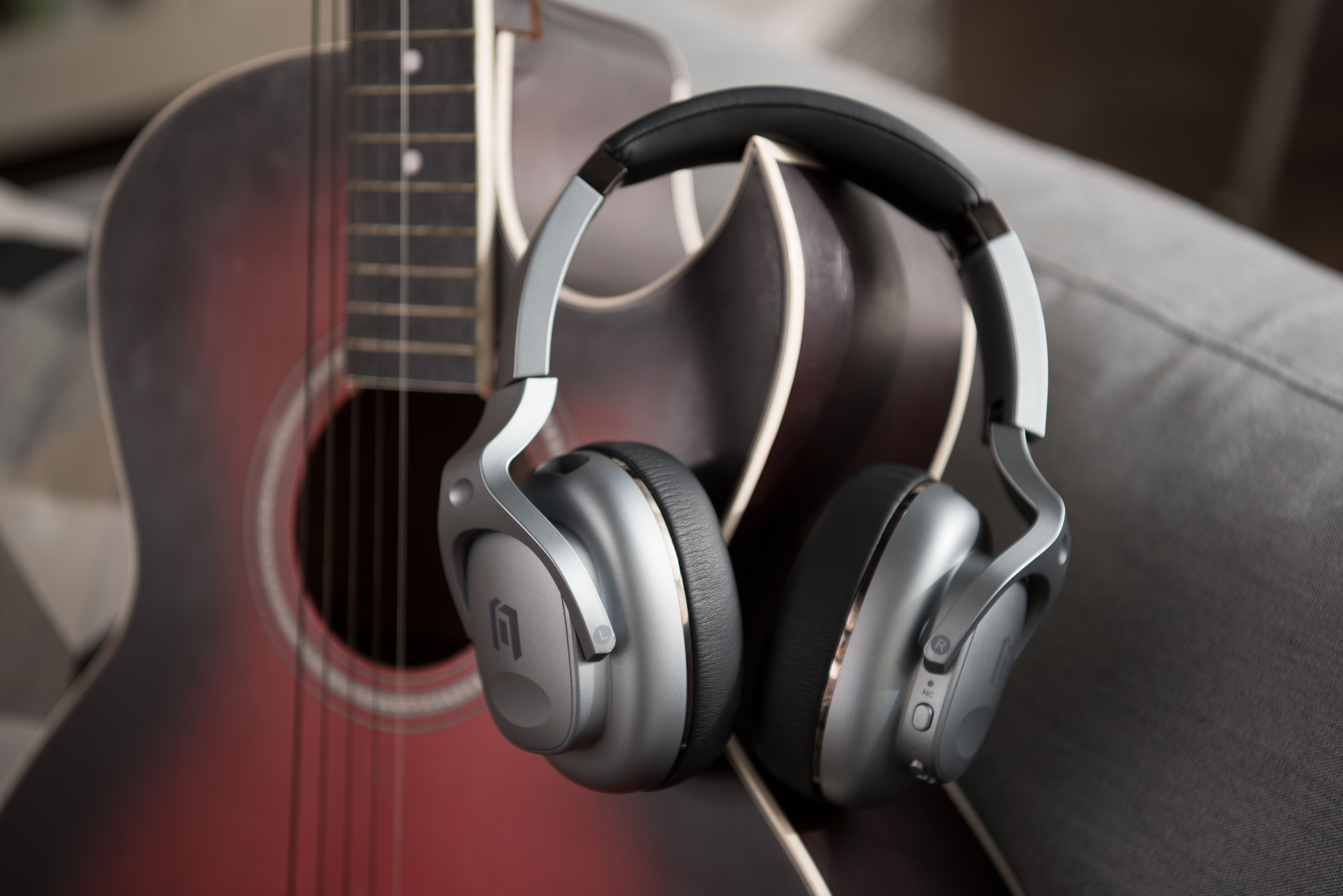 Mobvoi TicKasa ANC Headphones on Guitar