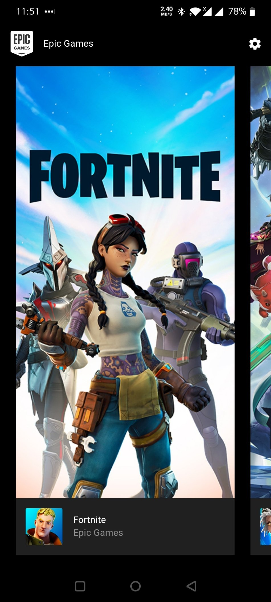 How to update Fortnite on the Epic Games Launcher for Android
