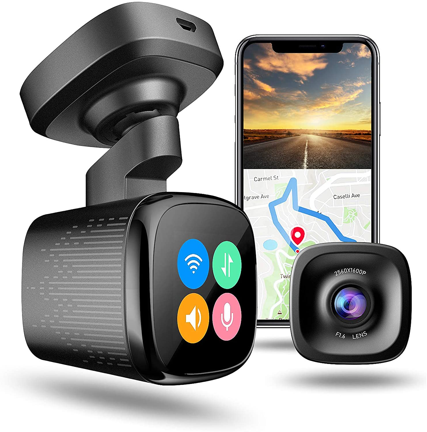 jomise dash cam and smartphone