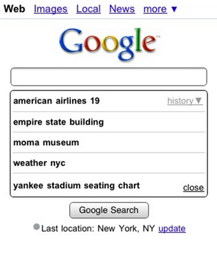 Google Personalized Suggest